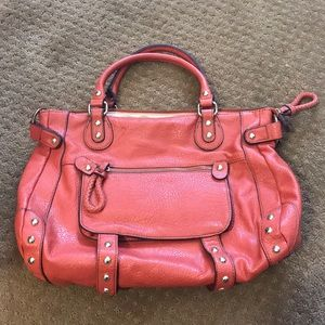 Steve Madden orange satchel